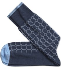 johnston & murphy men's heathered circle grid socks