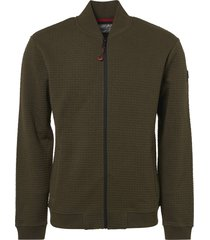no excess sweater, full zip bomber, double la dk army