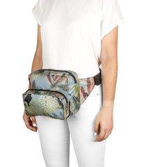 canguro xl plegable citybags estampado tropical multicolor
