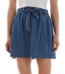 bcx juniors' cotton belted skirt