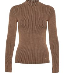 wool rib long sleeve t-shirts & tops long-sleeved beige casall
