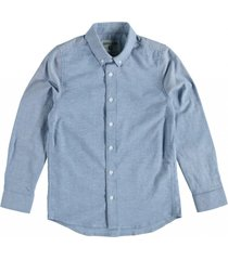 garcia zacht stevig oxford stretch overhemd denim blue