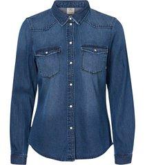 jeansskjorta vmmaria ls dnm slim shirt mix