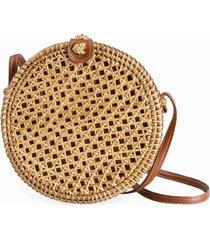 bolsa de palha rattan isla galerias redonda trançada cor natural