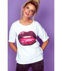 bluzka mouth red