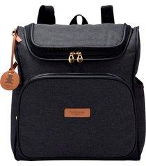 mochila maternidade pirulitando coleção prática preto