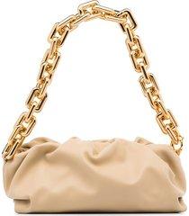 bottega veneta the chain pouch clutch bag - neutrals