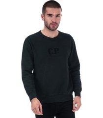 mens crew neck embroidered logo sweatshirt