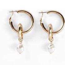 orecchini a cerchio con perla (oro) - bpc bonprix collection