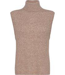 elisha neck waist coat vests knitted vests beige norr