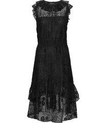 3164 - nivi/l jurk knielengte zwart sand