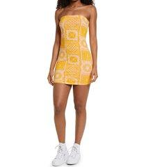 women's bp. knit tube dress, size medium - orange