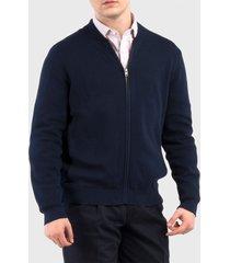 sweater dockers bomber azul - calce regular