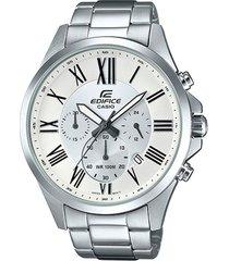 reloj casio efv_500d_7av plateado acero inoxidable