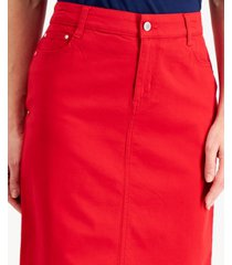 charter club denim tummy control skirt, created for macy's