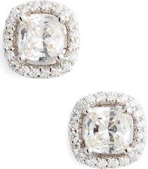 women's lafonn cushion cut simulated diamond stud earrings