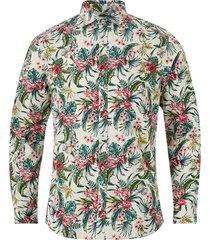 skjorta jprblalee print shirt l/s, slim fit