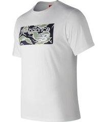 camiseta de manga curta new balance classics   masculina branca