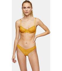 gold lace bra - gold