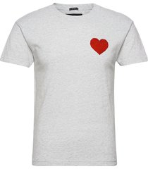 anf mens graphics t-shirts short-sleeved grå abercrombie & fitch