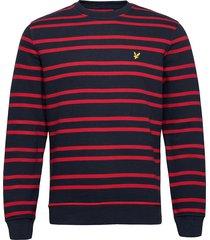 double stripe sweatshirt sweat-shirt trui blauw lyle & scott
