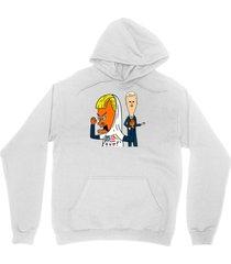 trump pence cartoon shirt funny cornholio tp for my bunghole unisex white hoodie