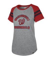 '47 brand washington nationals women's fly out raglan t-shirt