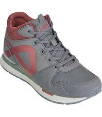 botin jogger aeroflex gris rojo md8711