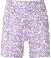 amir slama floral tactel swim shorts - purple