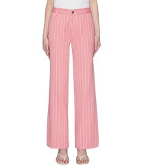 'powerful in pink' stripe pants