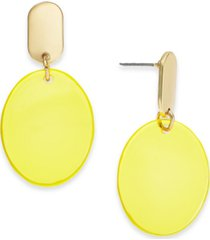 alfani gold-tone color disc drop earrings, created for macy's