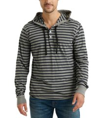 lucky brand men's stripe french terry hoodie