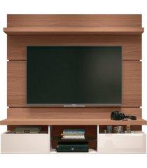 painel home suspenso 1.6 para tv atã© 55 sala de estar lennon nature/off white - gran belo - off-white - dafiti