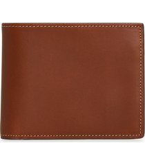 nordstrom wyatt leather id bifold wallet in brown mahogany at nordstrom
