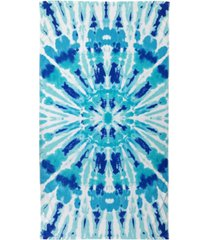 martha stewart collection radiant tie-dyed velour beach towel, created for macy's bedding