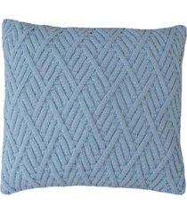 capa almofada tricot 45x45cm c/zãper sofa trico cod 1025 azul bebe - azul - feminino - dafiti