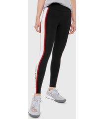 leggings negro-blanco-rojo new balance nb lifestyle