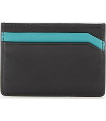 boss hugo boss men's subway card holder - black