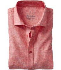 hennep-overhemd, rood-gemêleerd s