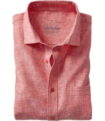 hennep-overhemd, rood-gemêleerd m