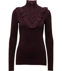 idal knit t-neck turtleneck coltrui paars second female