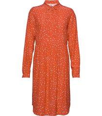 dress long sleeve knälång klänning orange noa noa