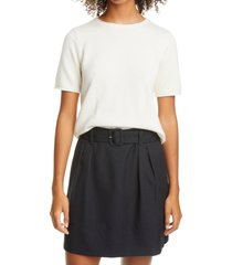 club monaco short sleeve cashmere sweater, size x-large in ivory at nordstrom