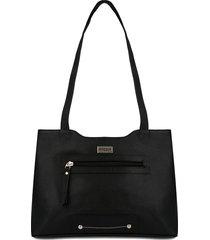 bolso de hombro 816 cuero negro