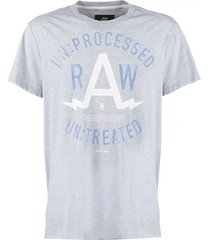 g-star lichtblauw regular fit t-shirt