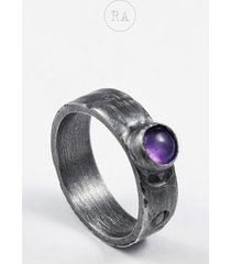 rozmiar 10 srebrny pierścionek z ametystem