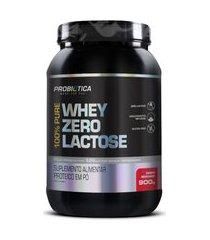 100% pure whey zero lactose pote 900g - probiotica - sabor morango