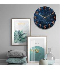 reloj de pared de 12 pulgadas de cristal de cuarzo silencioso universo espacio silencioso salón dormitorio - marble02