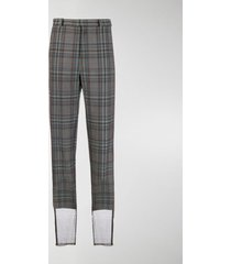 y/project mesh-trimmed checked trousers