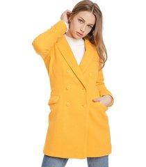 abrigo io amarillo - calce regular
